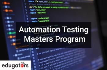 Automation Testing Masters Program